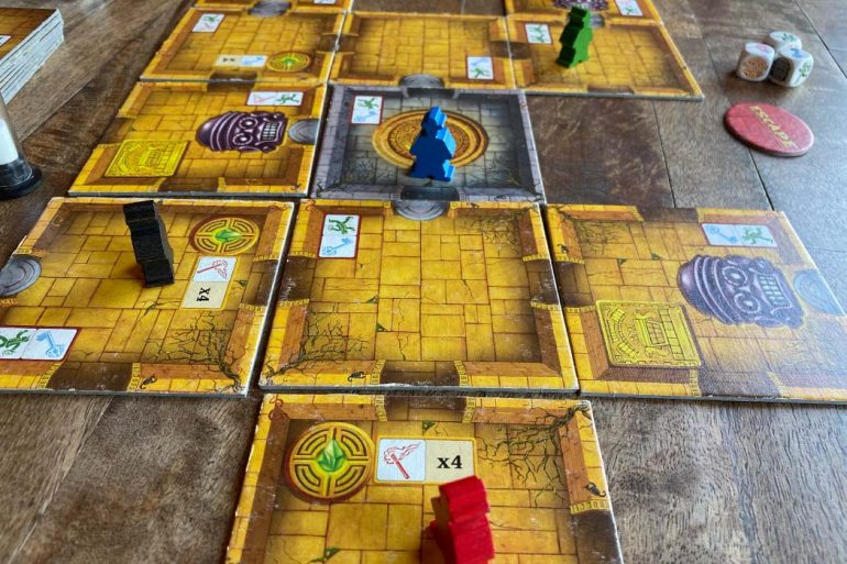 Escape The Curse of the Temple Board Game Overview