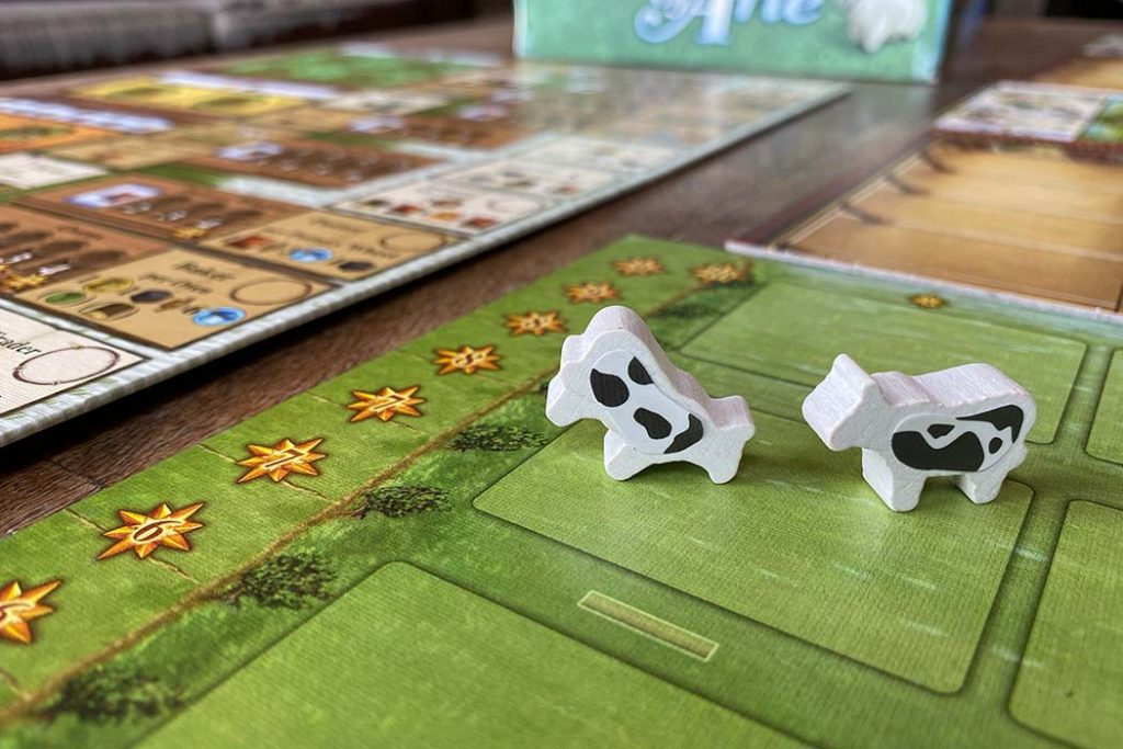 Fields of Arle Board Game Cows