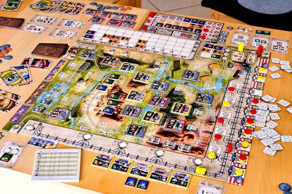 Great Western Trail Board Game Player Setup