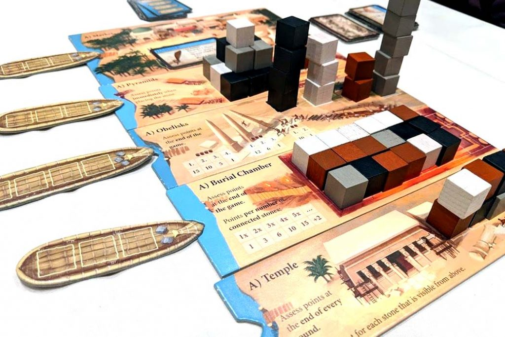Imhotep Board Game Ships