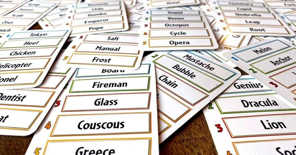 Just One Board Game Cards