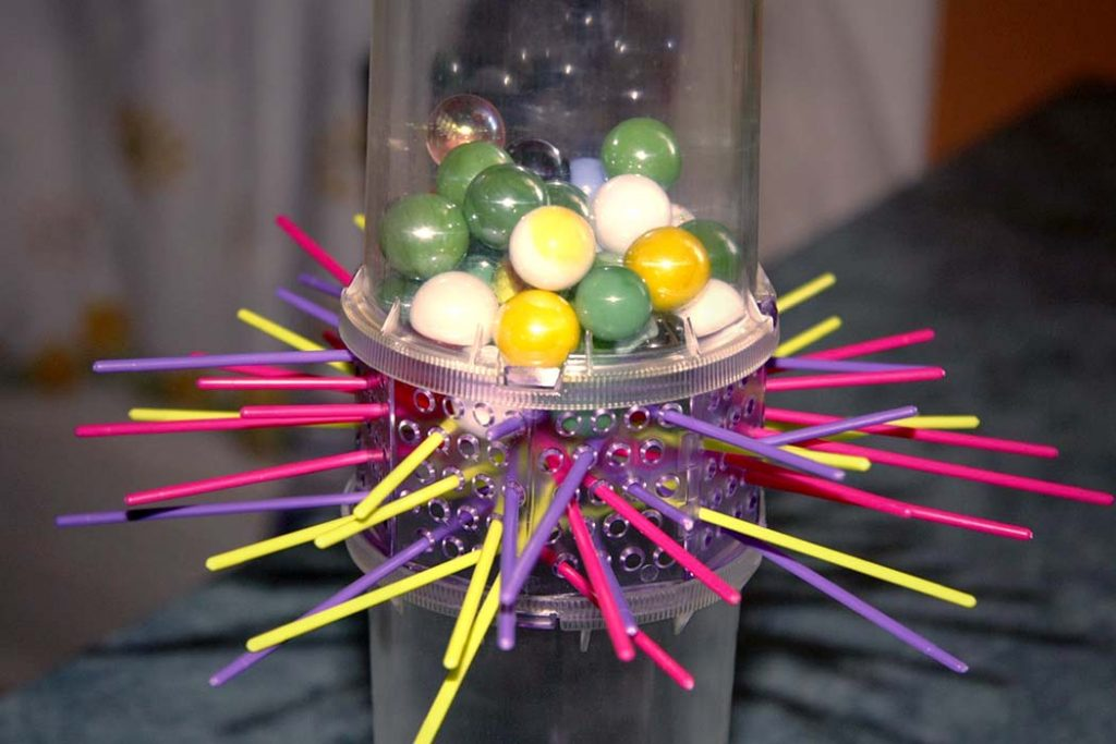Ker Plunk Board Game Marble Stack