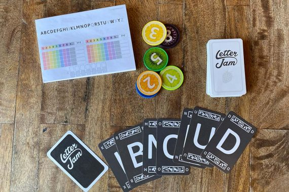 Letter Jam Board Game Components