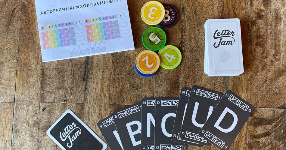 Letter Jam Board Game Components