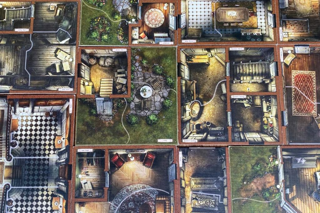 Mansions of Madness Board Game Layout