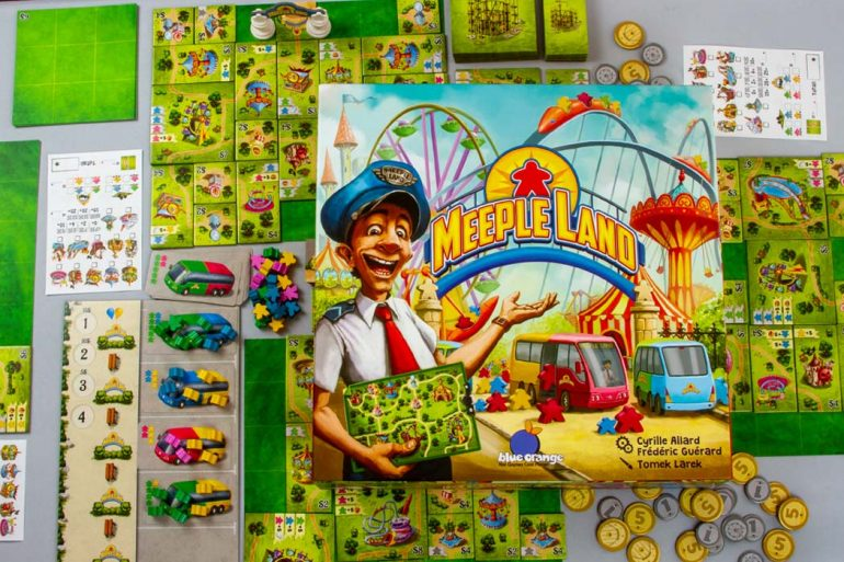 Meeple Land Board Game Box Art