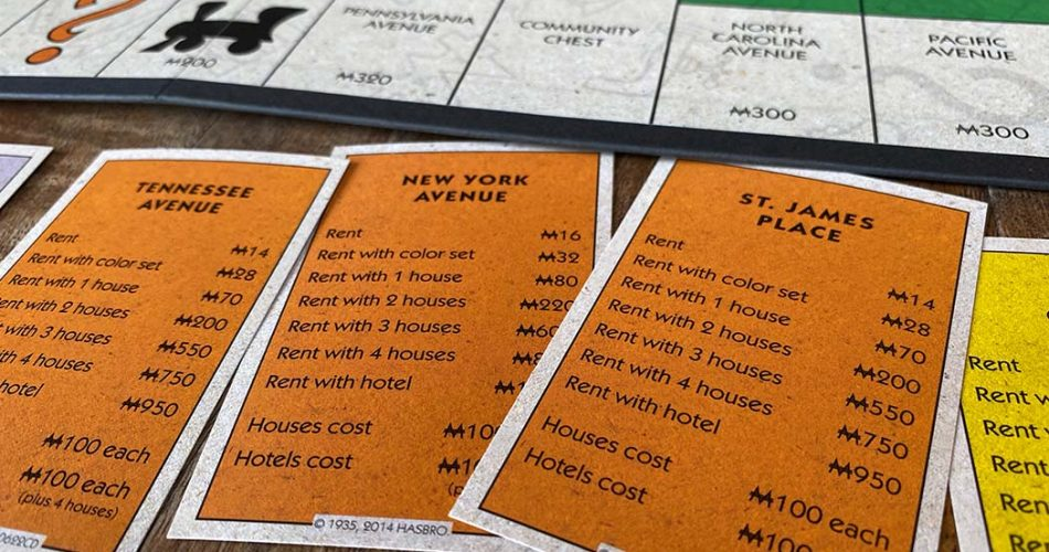 Monopoly Board Game Real Estate