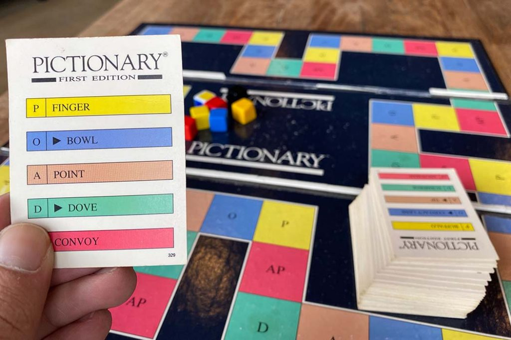 Pictionary Board Game Gameplay