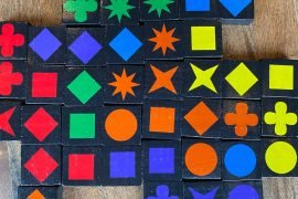 Qwirkle Board Game Block Pieces