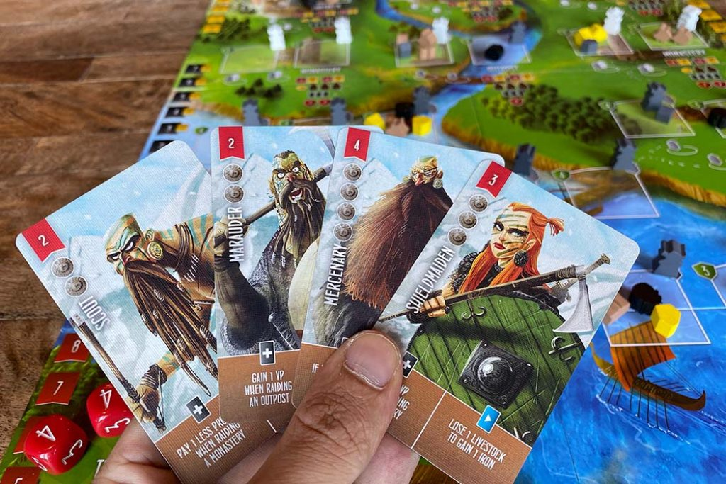 Raiders of the North Sea Board Game Cards