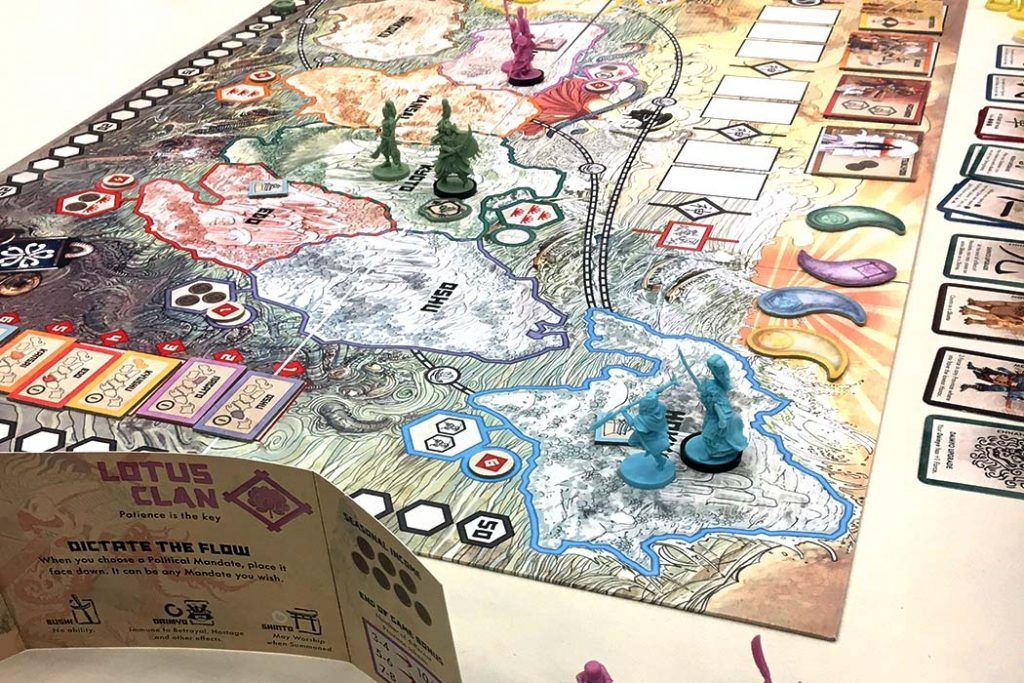 Rising Sun Board Game Player View