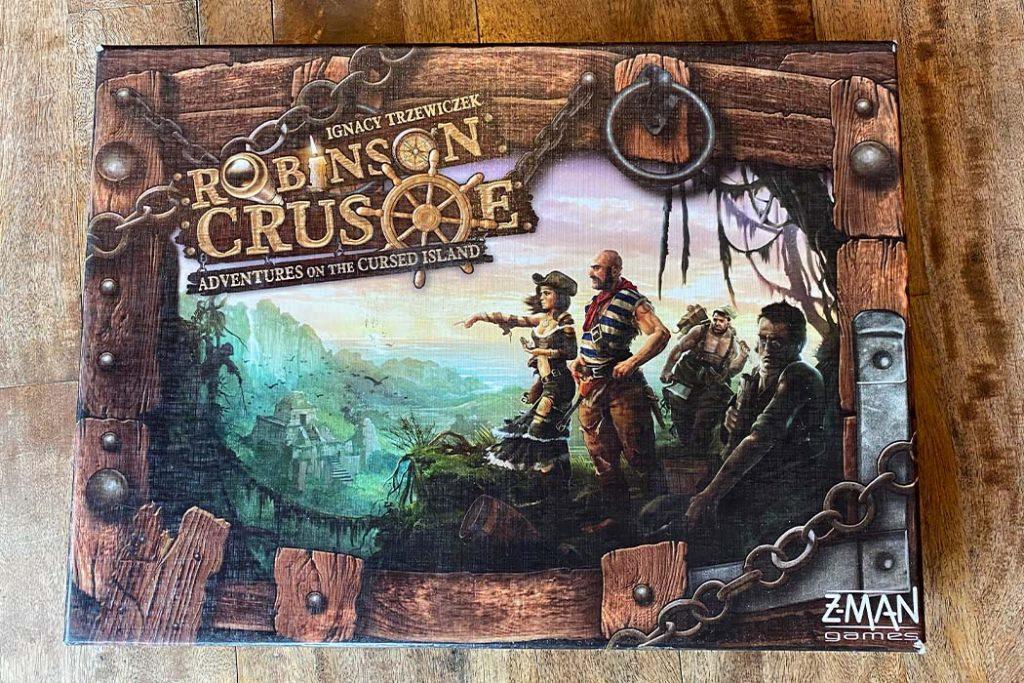 Robinson Crusoe Board Game Box Art