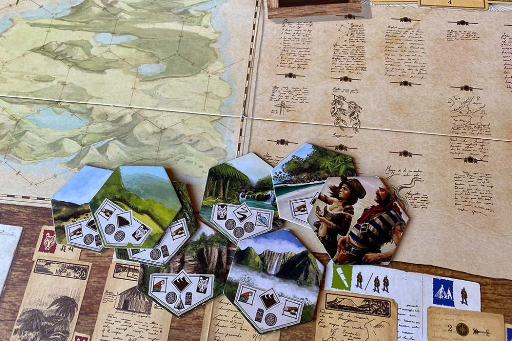 Robinson Crusoe Board Game Board