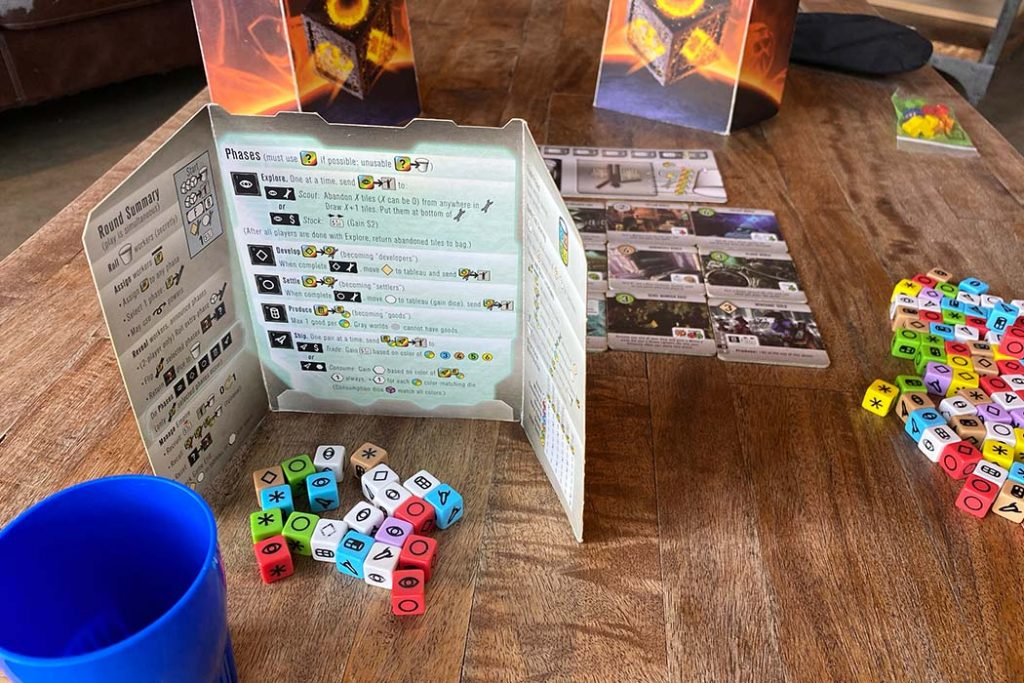 Roll For The Galaxy Board Game Gameplay