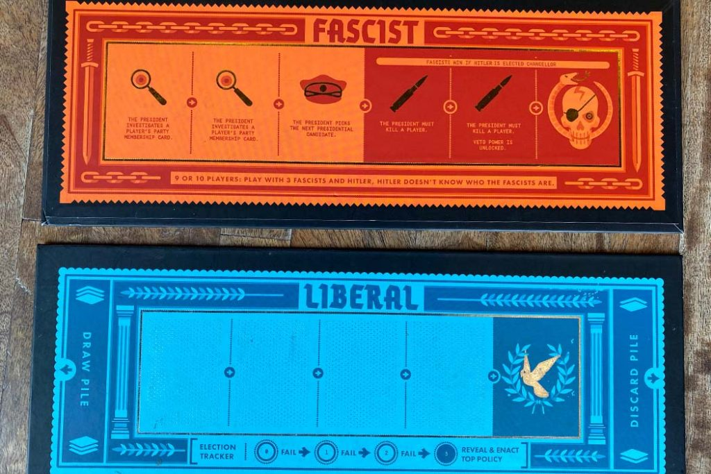 Secret Hitler Board Game Play Board