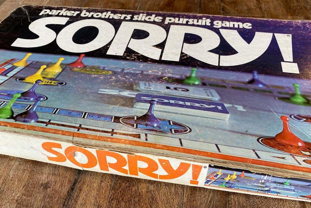 Sorry Board Game Box Art
