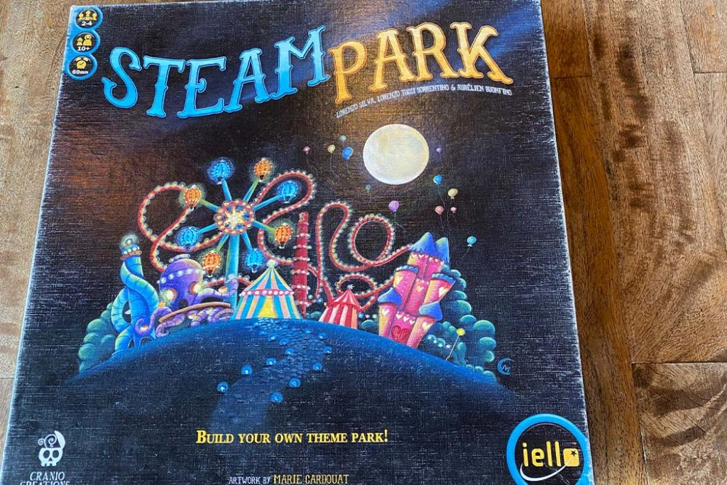 Steam Park Board Game Box Art