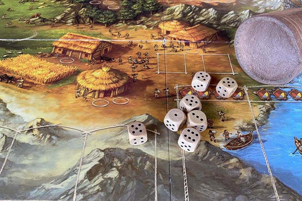 Stone Age Board Game Dice Roll