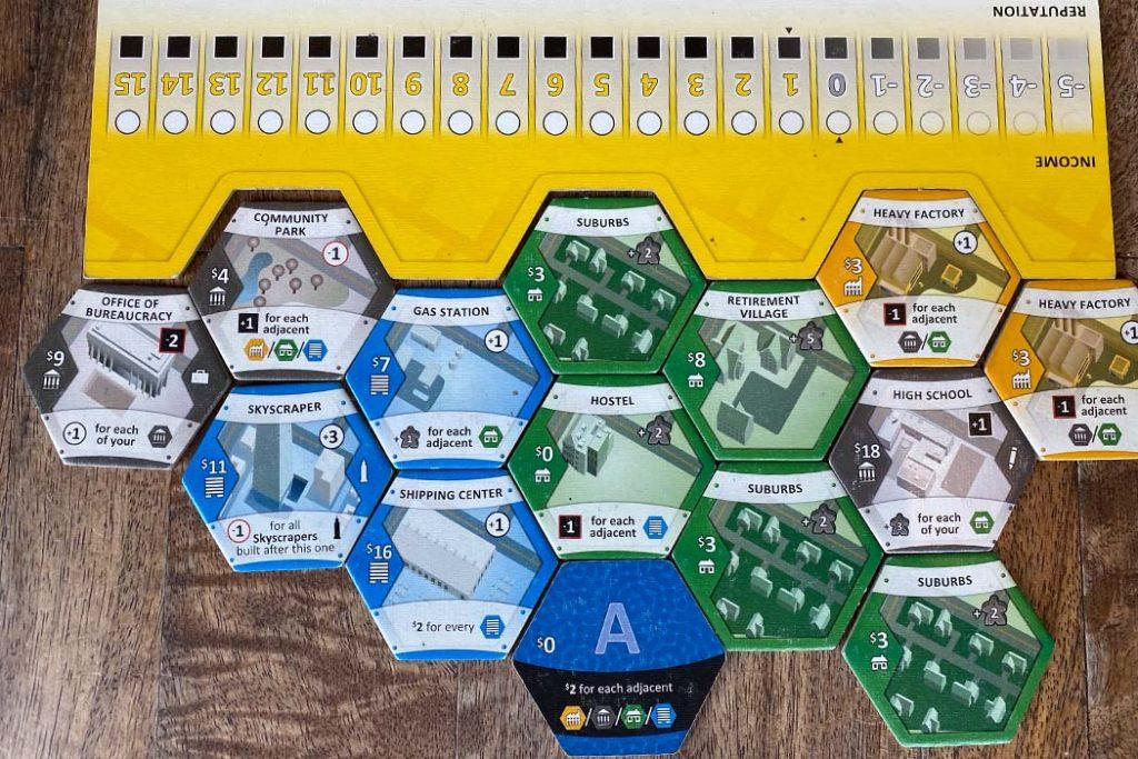 Suburbia Board Game Player Board