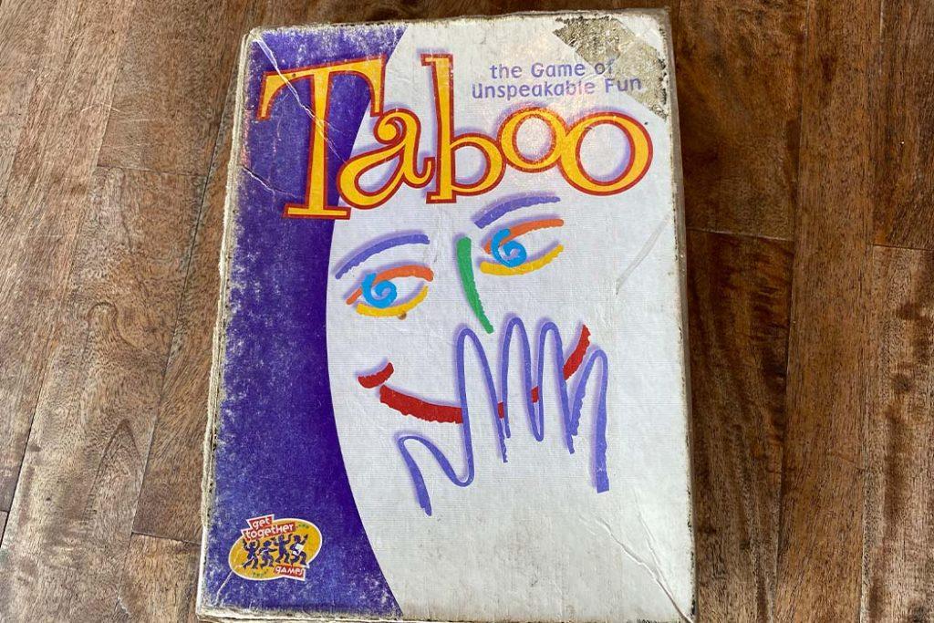 Taboo Board Game Box Art