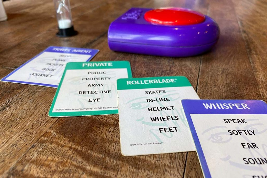 Taboo Board Game Clue