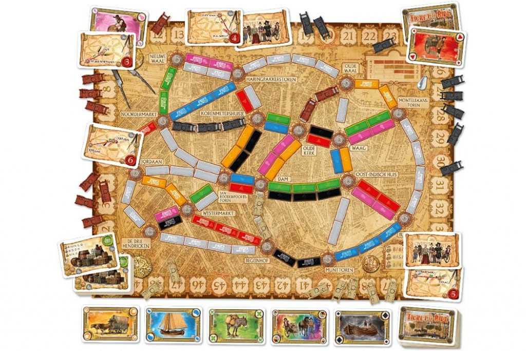 Ticket To Ride Amsterdam Map