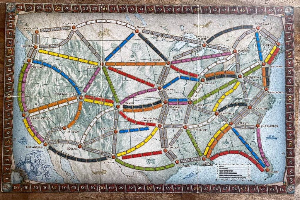 Ticket To Ride Board Game Gameboard