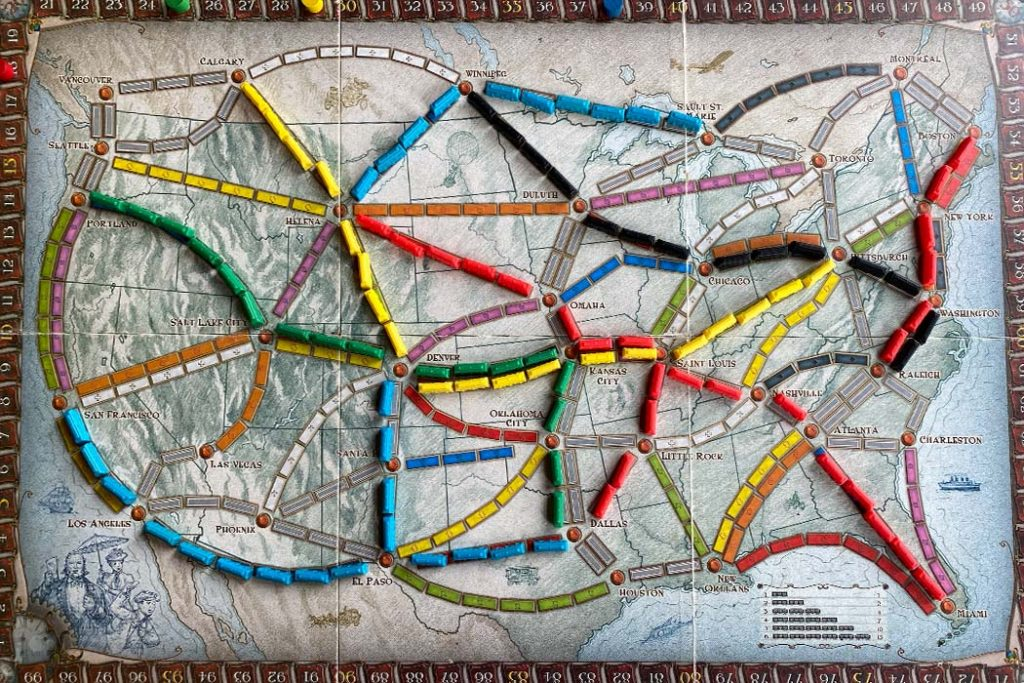 Ticket To Ride Board Game Gameplay