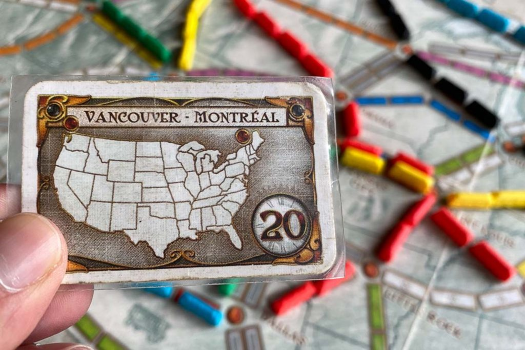 Ticket To Ride Board Game Goal Card