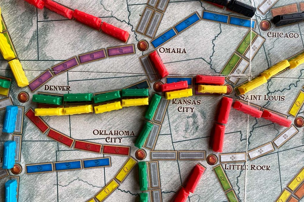 Ticket To Ride Board Game Route Intersection