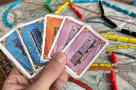 Ticket To Ride Board Game Train Cards