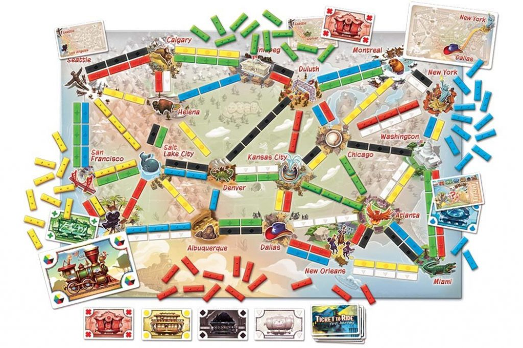 Ticket To Ride First Journey Map