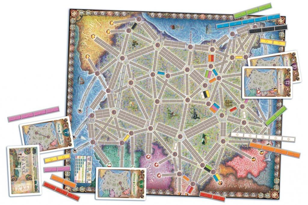 Ticket To Ride France Map