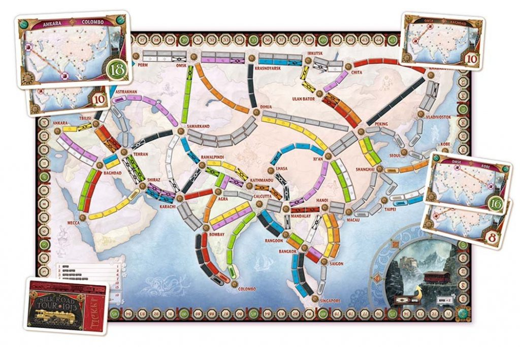 Ticket To Ride Legendary Asia Map
