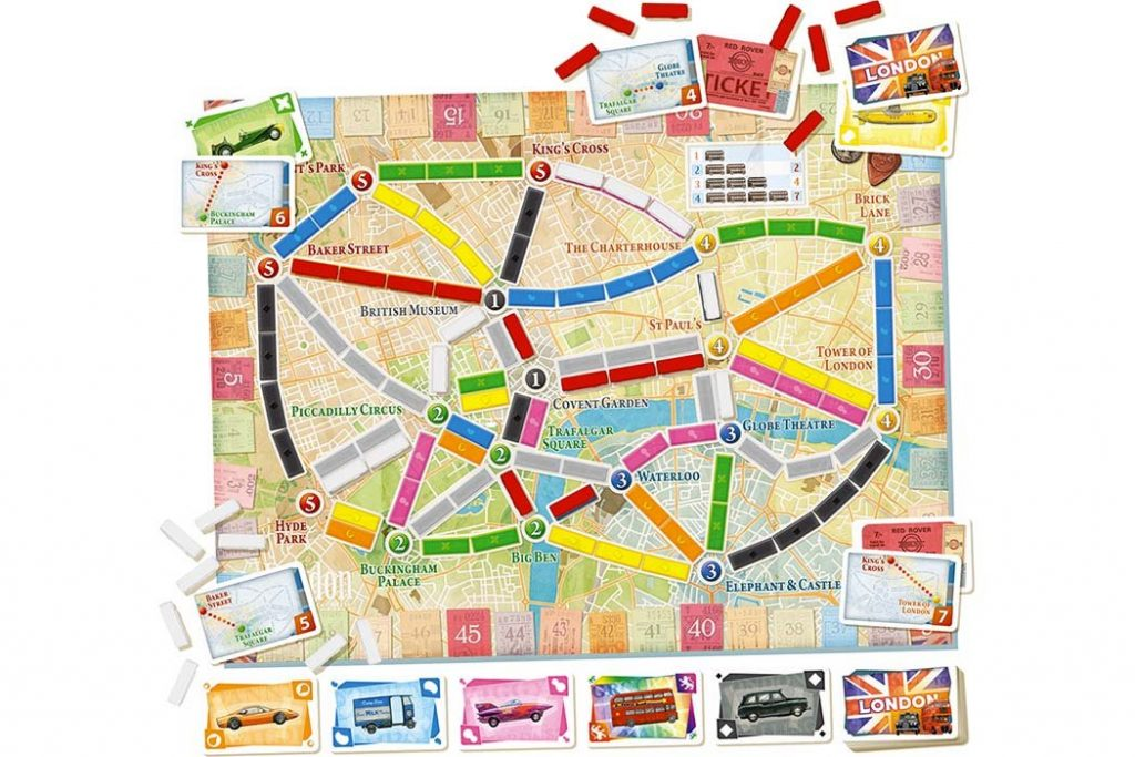 Ticket To Ride London Map