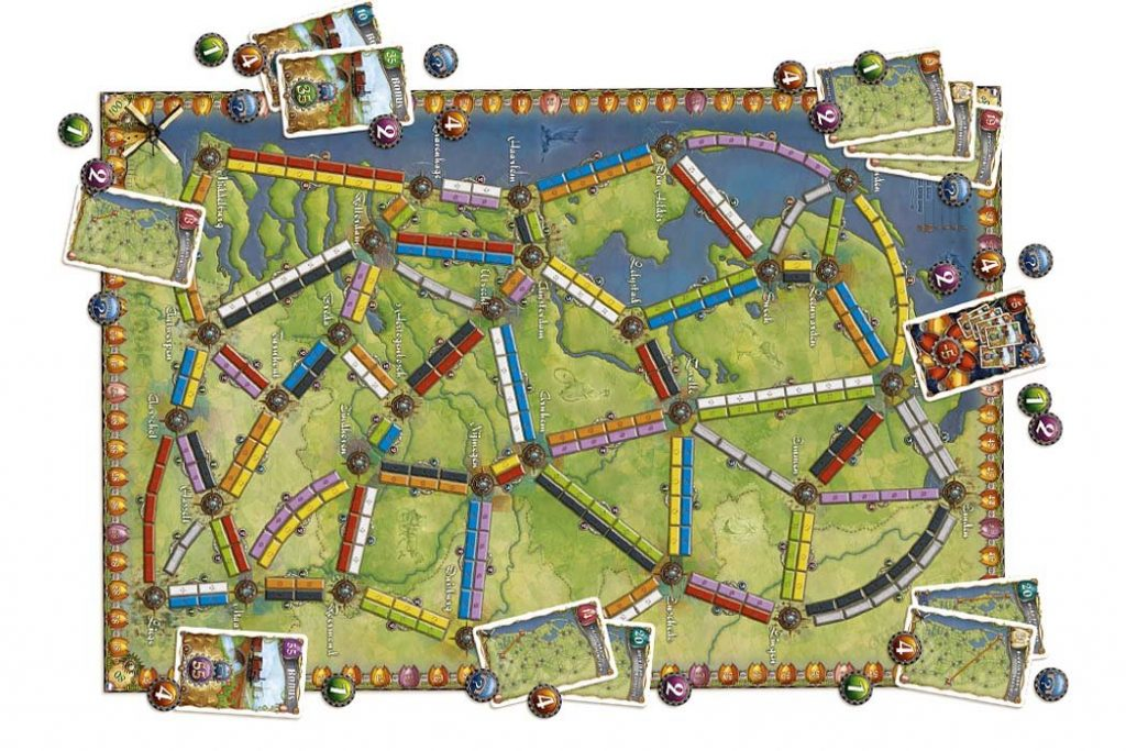 Ticket To Ride Nederland Map