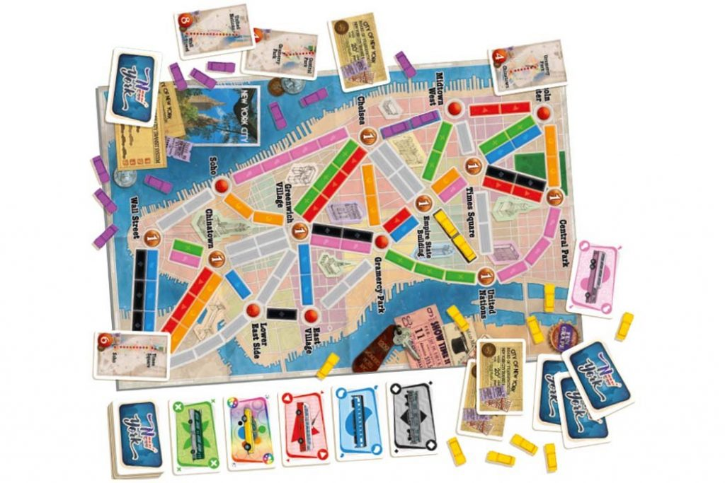 Ticket To Ride New York Map