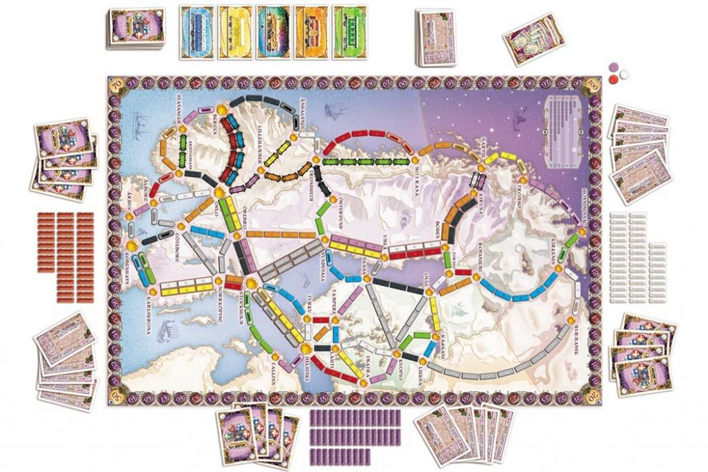 Ticket To Ride Nordic Countries Map