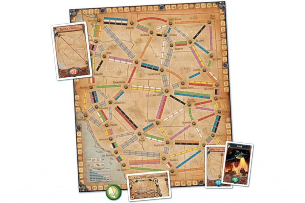 Ticket To Ride Old West Map