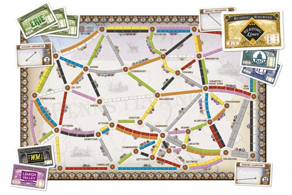 Ticket To Ride Pennsylvania Map