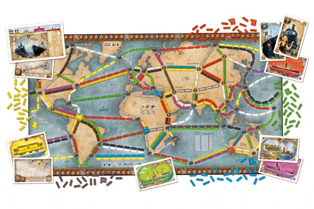 Ticket To Ride Rails and Sails Map