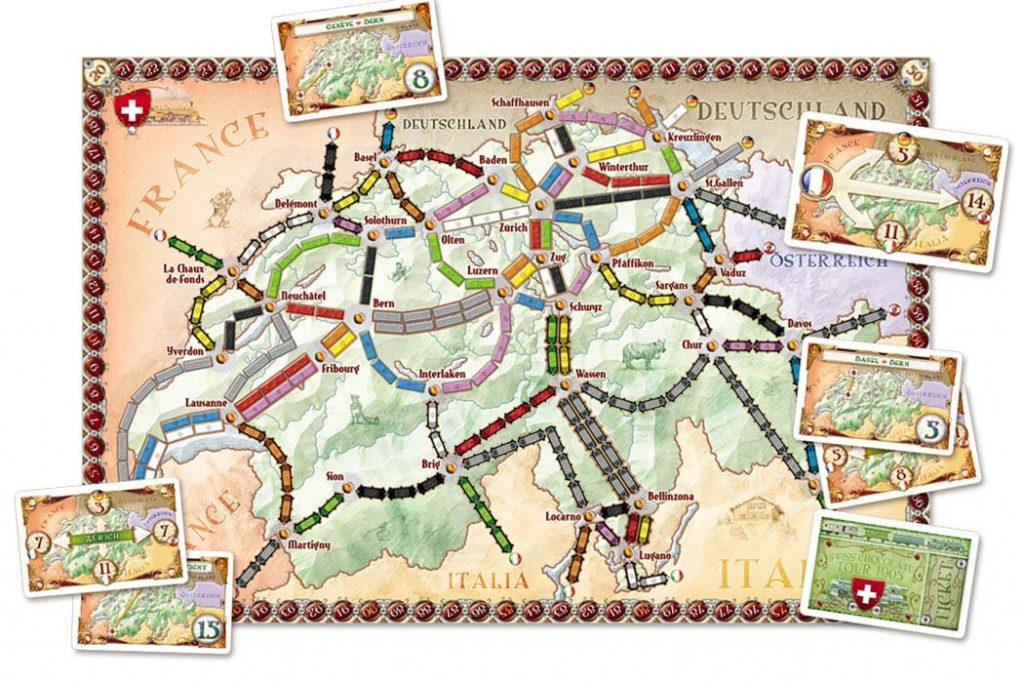 Ticket To Ride Switzerland Map