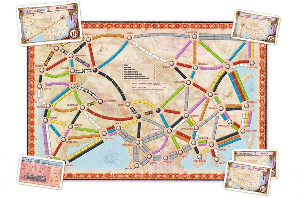 Ticket To Ride Team Asia Map