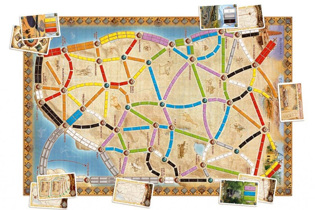 Ticket To Ride Africa Map