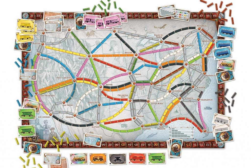 Ticket To Ride USA Map