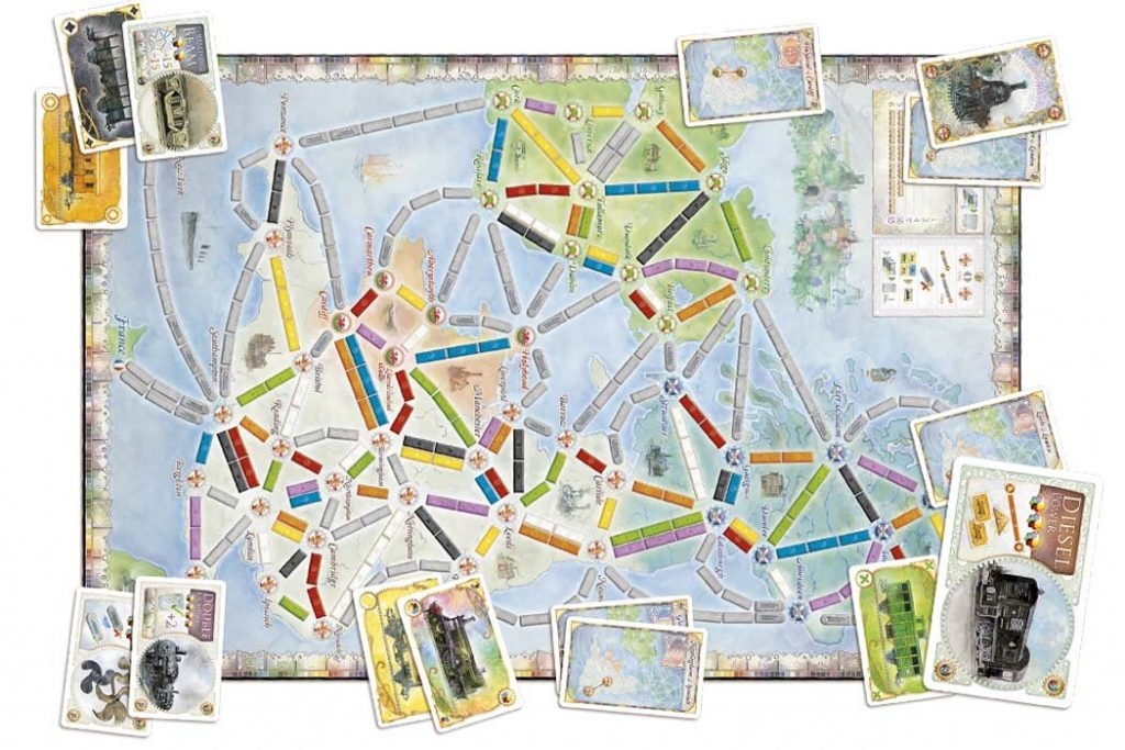 Ticket To Ride United Kingdom Map