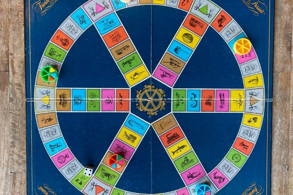 Trivial Pursuit Board Game Board