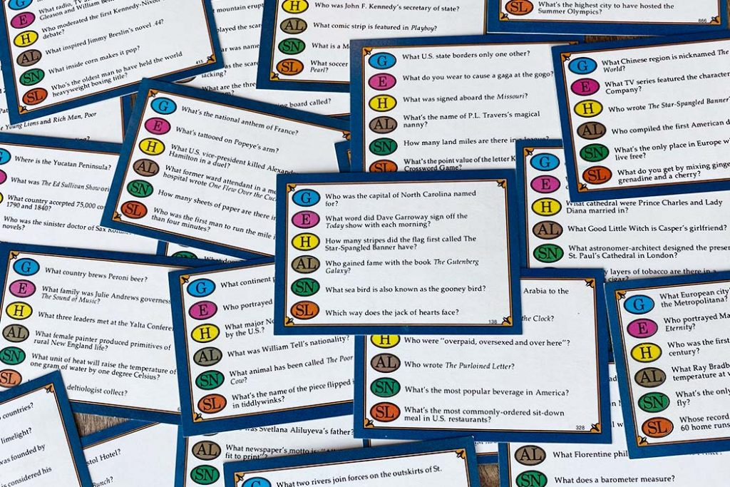 Trivial Pursuit Board Game Questions