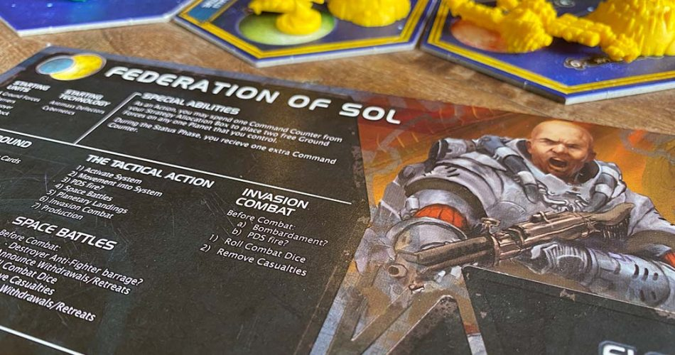 Twilight Imperium Board Game Character Card