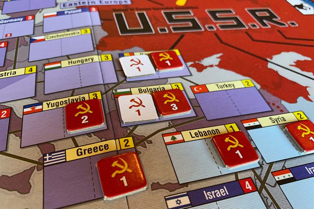 Twilight Struggle Board Game Territories